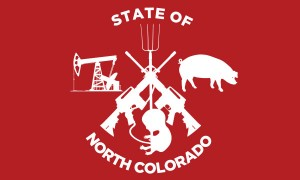 One of several proposed North Colorado state flags (via Progress Now).