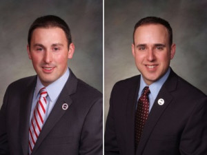 Reps. Dan Nordberg and Jared Wright (R).
