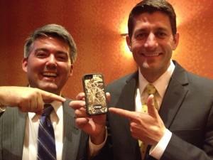 Rep. Paul Ryan with now-Sen. Cory Gardner.