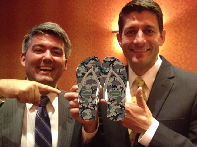 Cory Gardner Flip Flops