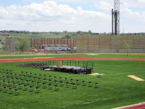 Fracking near a high school in Greeley, Colorado.