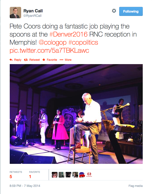 Pete Coors plays spoons