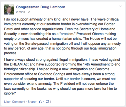Doug Lamborn and amnesty