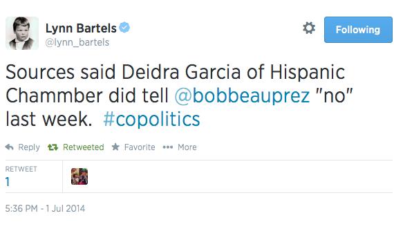 Bartels Tweet