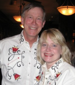 Gov. John Hickenlooper and AG Cynthia Coffman in happier times.