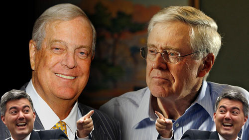 Koch Brothers and Cory Gardner