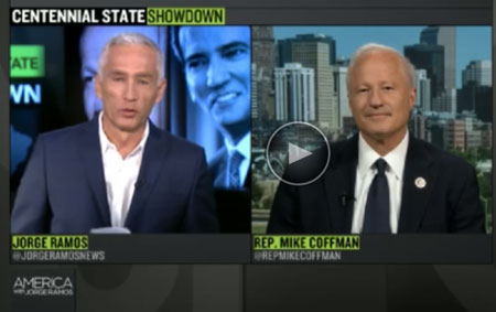 Jorge Ramos Rep. Mike Coffman
