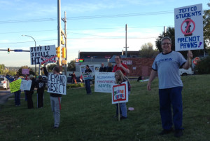 At 64th and Wadsworth yesterday.