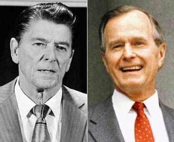 Reagan and Bush Sr