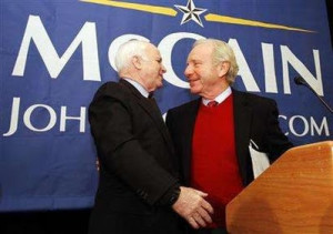 John McCain, Joe Lieberman.