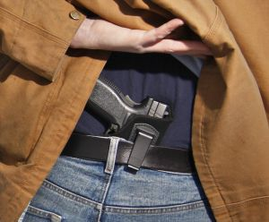 Concealed handgun.