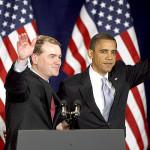 Sen. Michael Bennet, President Barack Obama.