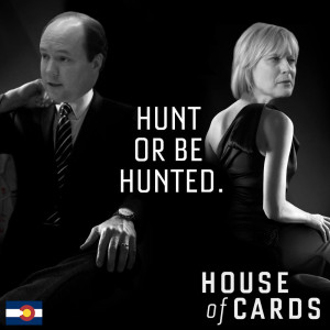Ted Harvey and Cynthia Coffman in House of Cards likeness.