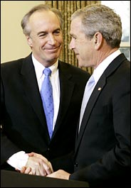 Dirk Kempthorne, George W. Bush.