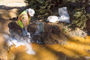 EPA treats wastewater at Gold King Mine.