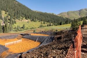 Mine water retention ponds near Silverton. Photo credit: EPA