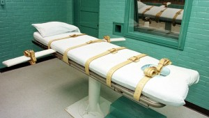Lethal injection chamber.
