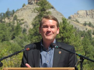 Sen. Michael Bennet at Chimney Rock National Monument.