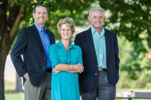 Jeffco school board candidates Brad Rupert, Susan Harmon, and Ron MItchell.