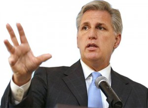Rep. Kevin McCarthy demonstrates how to count to five.