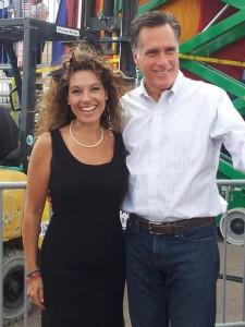 Julie Naye, Mitt Romney in 2012.
