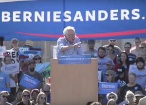 Bernie Sanders in Boulder yesterday.