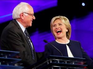 Bernie Sanders, Hillary Clinton.