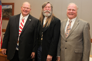 Garfield County commissioners Mike Samson, John Martin, and Tom Jankovsky.