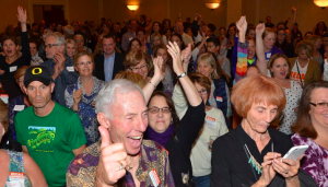 Jeffco recall supporters celebrate last night.