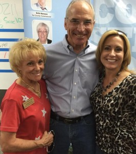 Patsy Melonakis (L) with 2014 gubernatorial candidate Bob Beauprez and running mate Jill Repella.