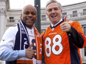 Denver Mayor Michael Hancock poses with Michael Carrigan.