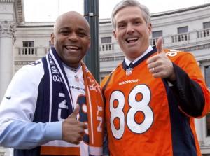 Denver Mayor Michael Hancock poses with Michael Carrigan.