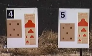 """Redcoat"" Appleseed silhouette targets."