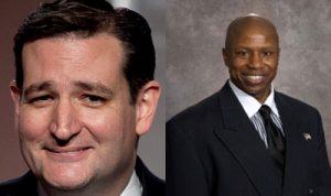 Texas Sen. Ted Cruz (left) is backing Darryl Glenn for Senate in Colorado.