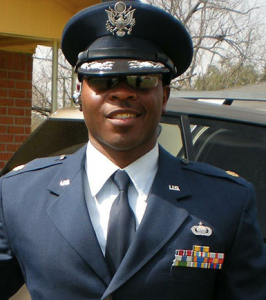 Eric Nelson impersonating a U.S. Air Force major in an undated photo.