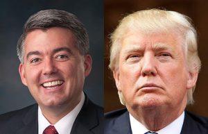 Sen. Cory Gardner (left) and Donald Trump