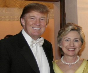 Donald Trump, Hillary Clinton.