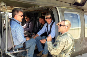 Cory Gardner, Mark Udall tour Colorado flood damage.
