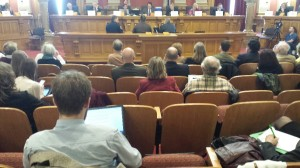 Empty seats at hearing for House Bill 1157 yesterday.