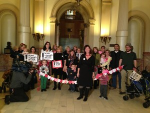 Moms Demand Action event at the Capitol yesterday.