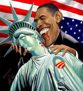 Obama and Lady Liberty.