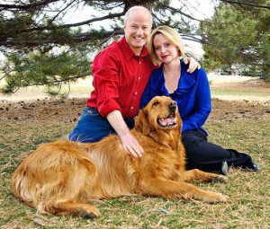 Mike and Cynthia Coffman. And dog.