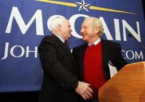John McCain, Joe Lieberman.