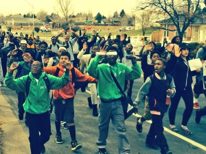Montbello HS protesters. Image via Twitter