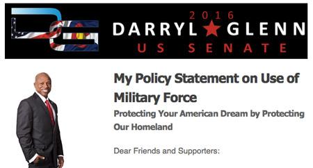 Darryl Glenn military