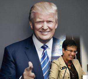 Donald Trump, Sen. Laura Woods.