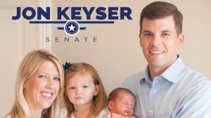 Jon Keyser will have plenty of time to spend with his young family now that he's no longer a Senate candidate.