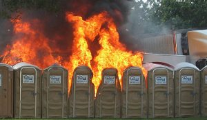 This would have to calm down to be called a dumpster fire.