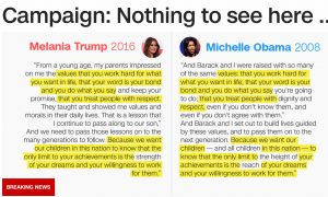 Plagiarism comparisons were front-page news on CNN.com on Tuesday.